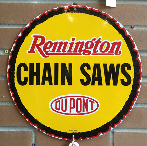 Remington Chain Saws Porcelain Sign