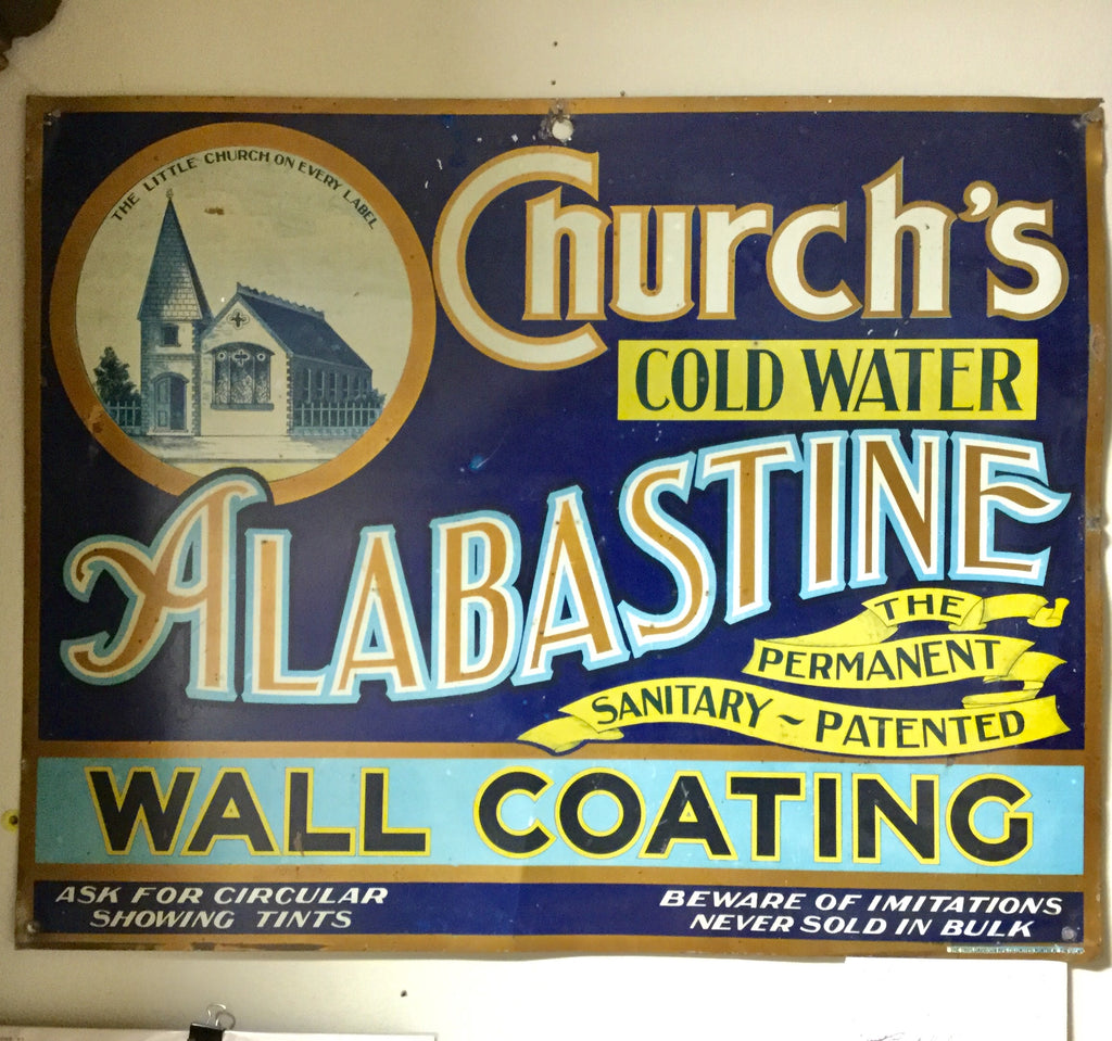 Alabastine Metal Sign