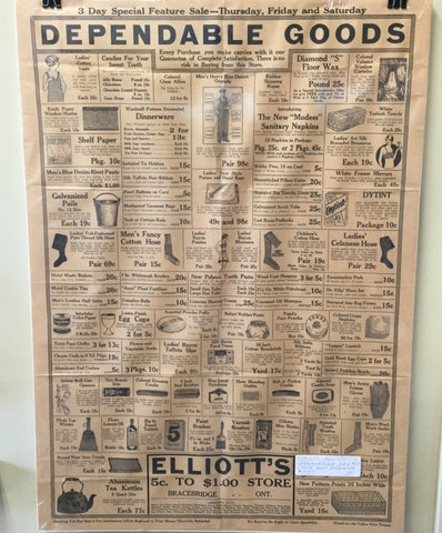 1920's Bracebridge Store Broadside