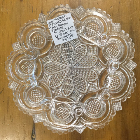 1840's Pressed Glass Plate