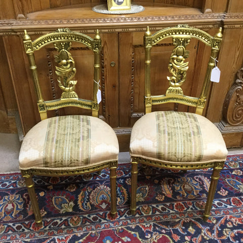 Pair of Gold Chairs