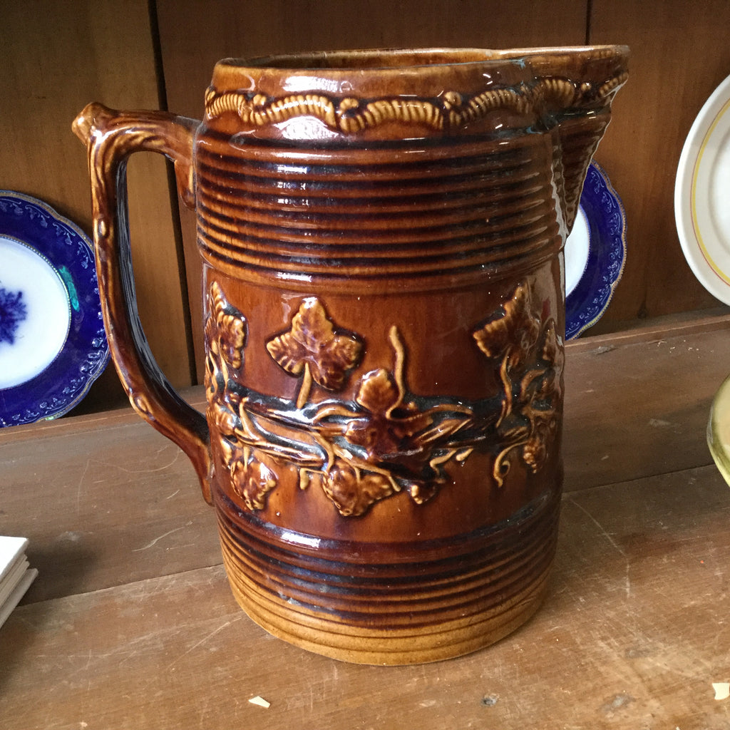 Antique Brown Glazed Pitcher