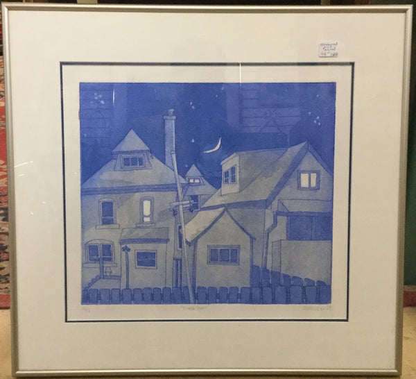 Signed Print of Houses