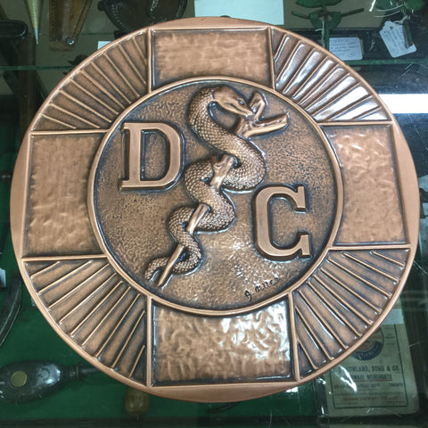 Albert Gilles Studio Copper Medical Plaque