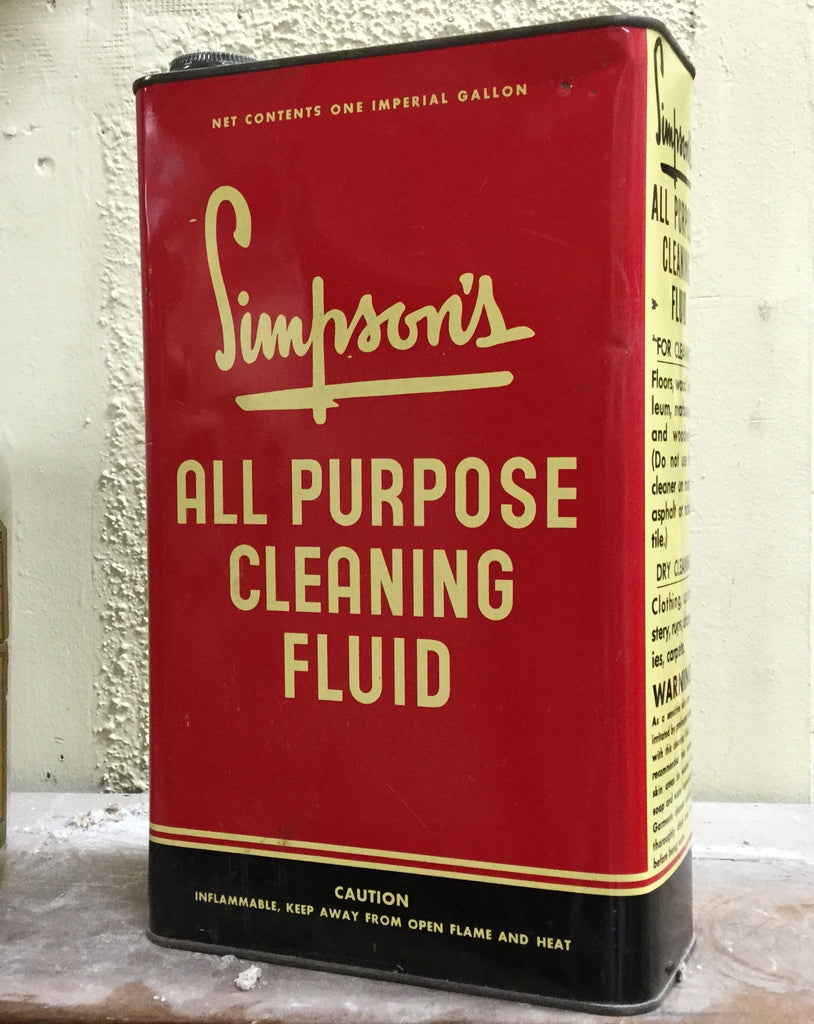Simpson's Cleaning Fluid Can