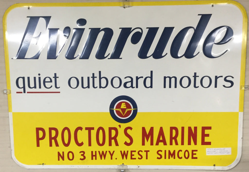 Evinrude Motor Metal Sign