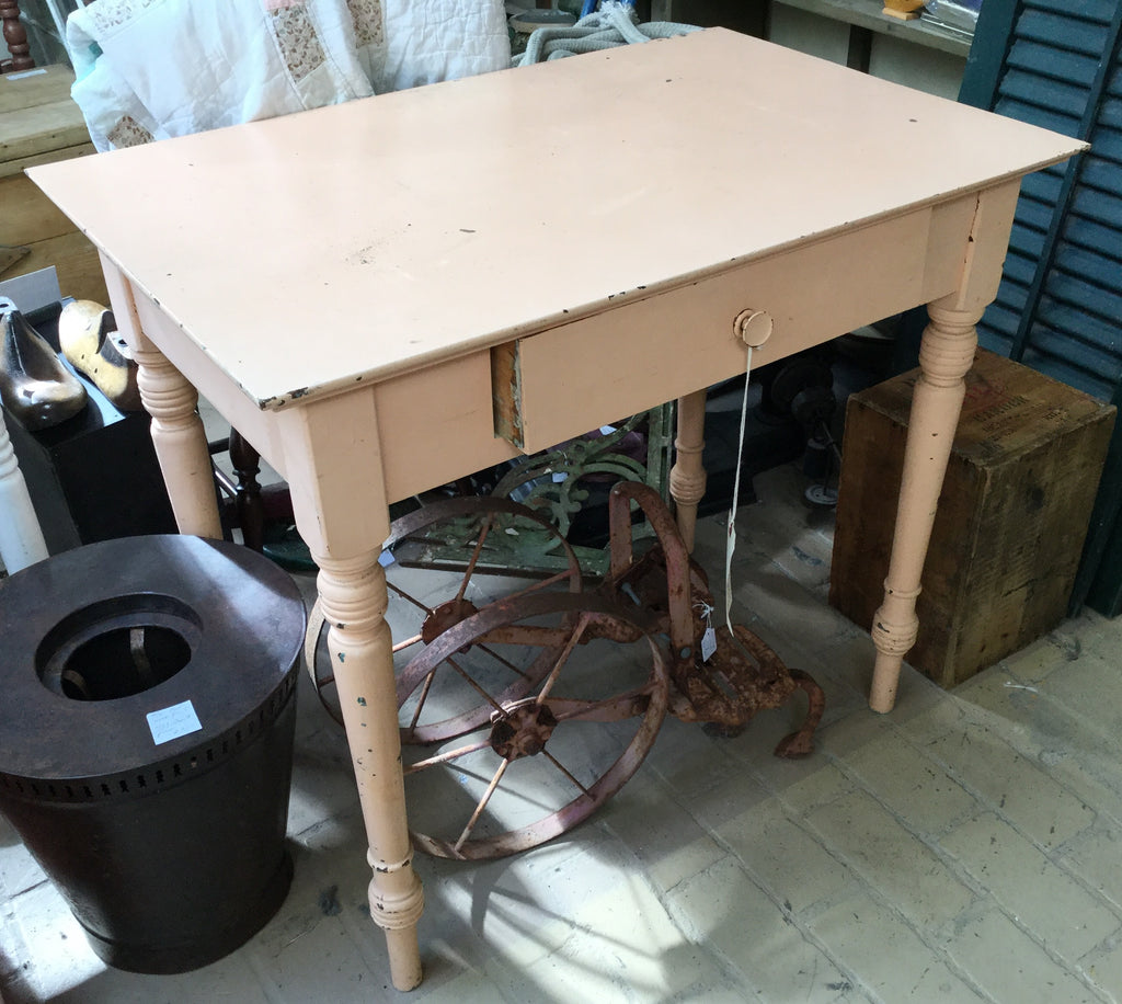 Light Beige Single Drawer Table