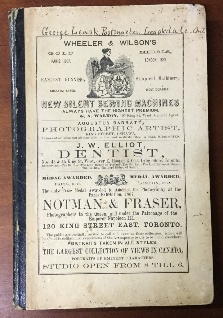 1869-70 County of Ontario Directory
