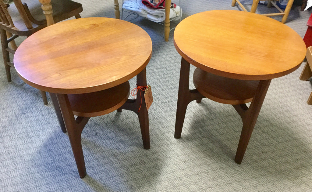 Pair Mid Century End Tables