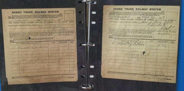 GTR Grand Trunk Railway Shipping Receipts