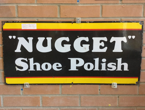 Nugget Shoe Polish Porcelain Sign