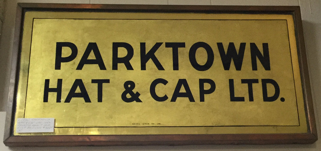 Reverse Painted Hat Sign