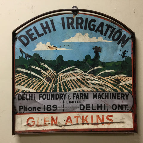 Delhi Irrigation Sign
