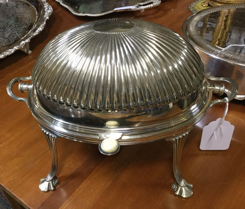 Silver Plated Rolltop Server