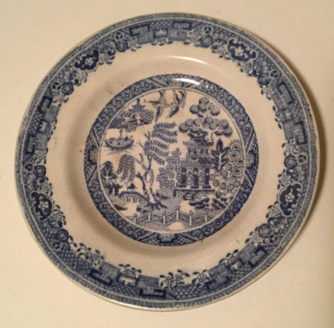 1850 Blue Willow Cup Plate