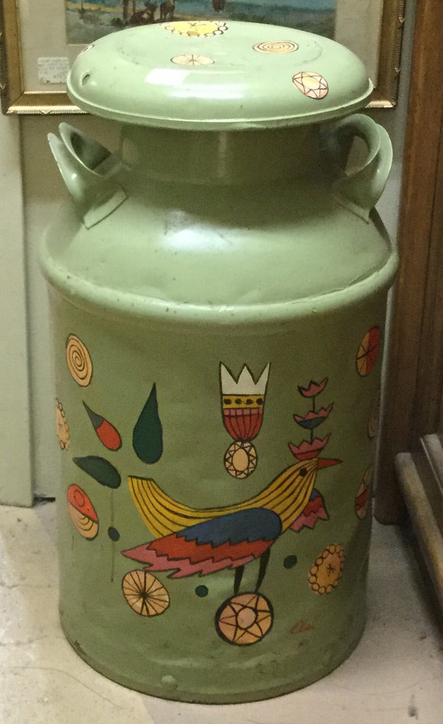 Milk Can with Folk Art Paint