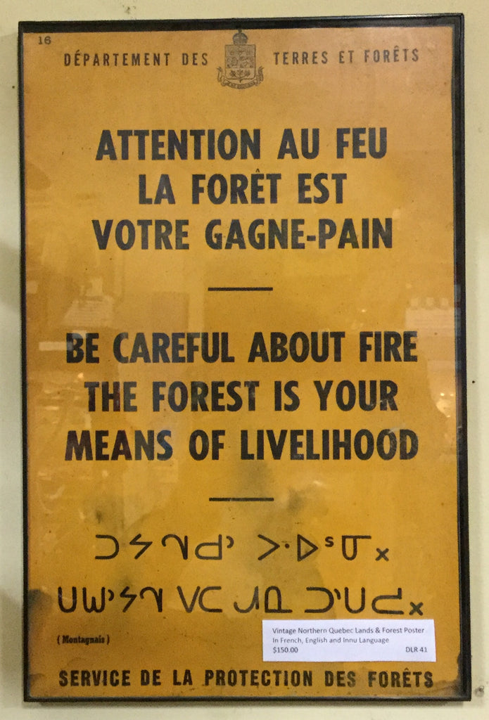 Tri-lingual Forest Fire Poster