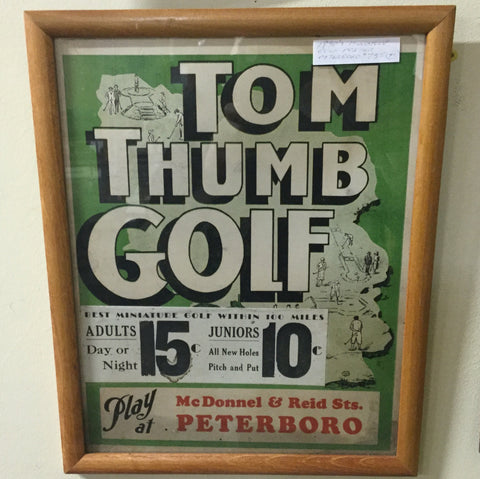 Peterborough Miniature Golf Poster