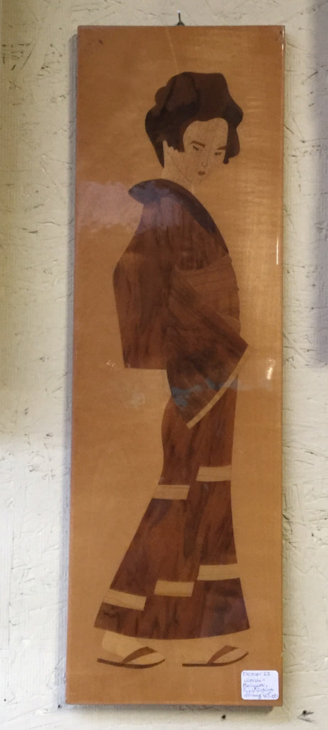 Marquetry Panel Japanese Woman