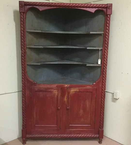 Antique Open Corner Cupboard
