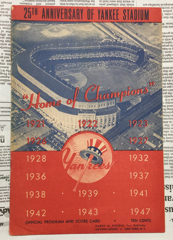 1948 New York Yankees Program
