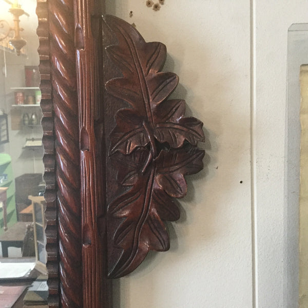 Rope Twist Oak Leaf Mirror