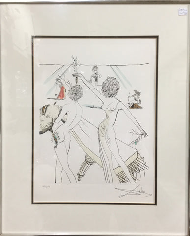 Limited Edition Signed Salvador Dali Print
