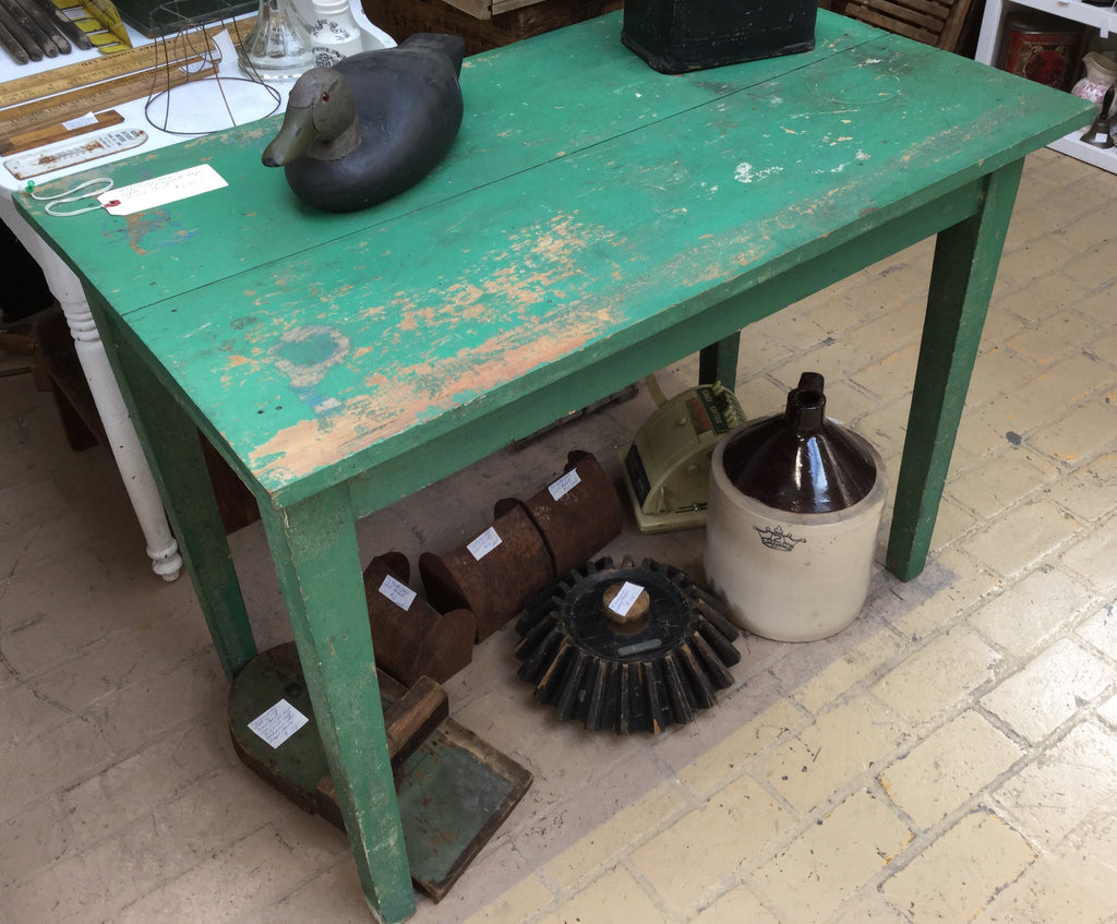 Green Painted Side Table
