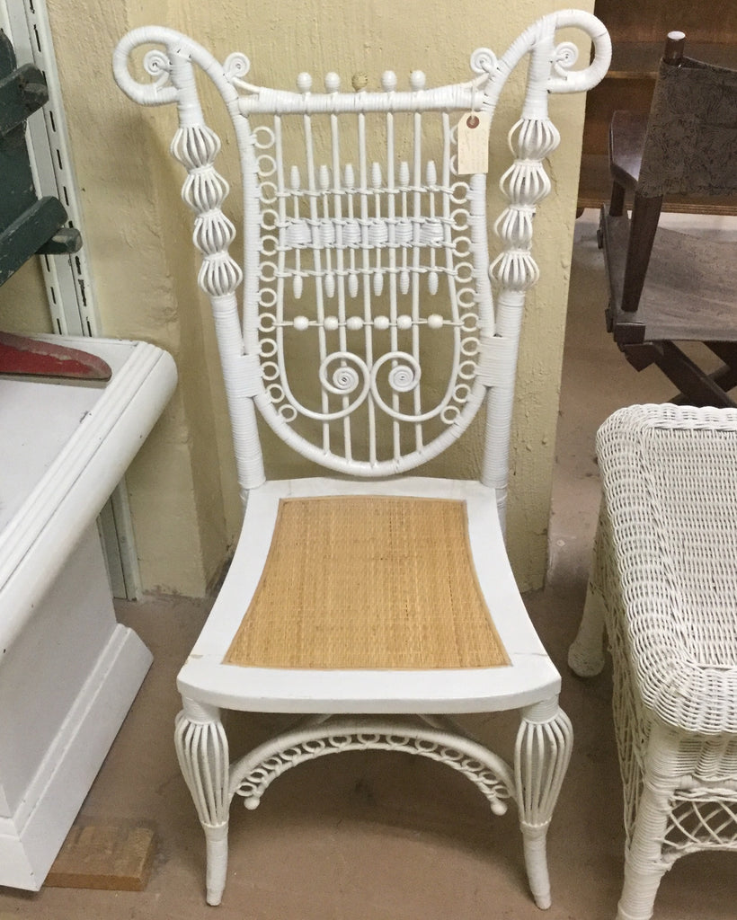 White Wicker Chair