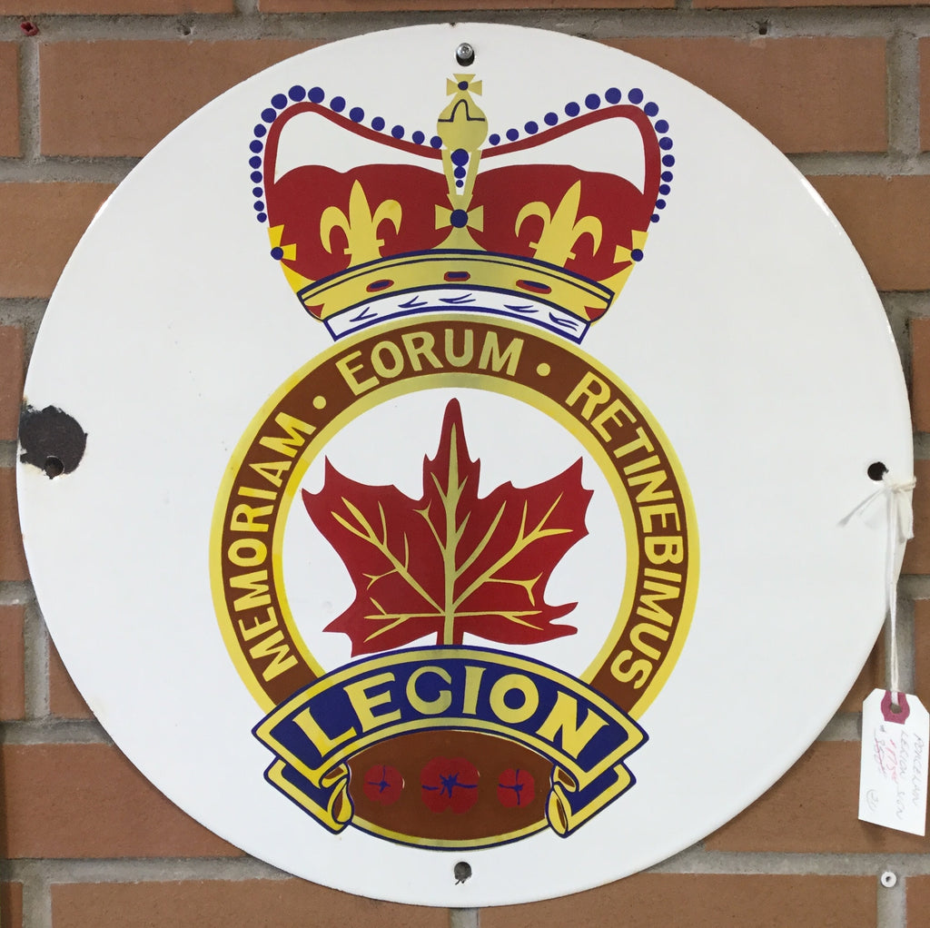 Porcelain Legion Sign