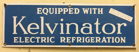 Porcelain Kelvinator Sign