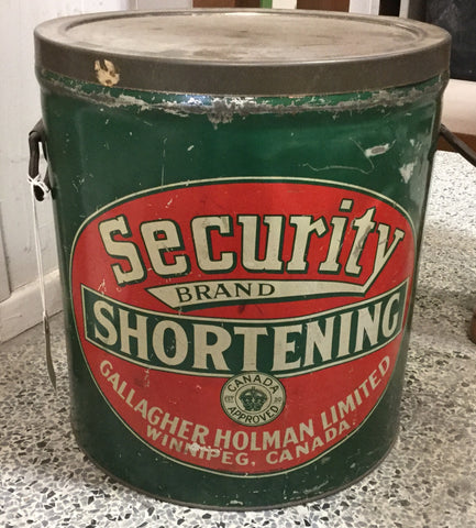 Security Brand Shortening Tin