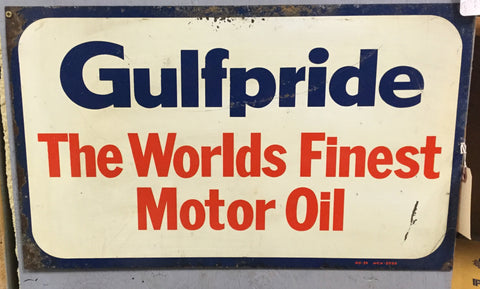 1939 Gulfpride Motor Oil Sign