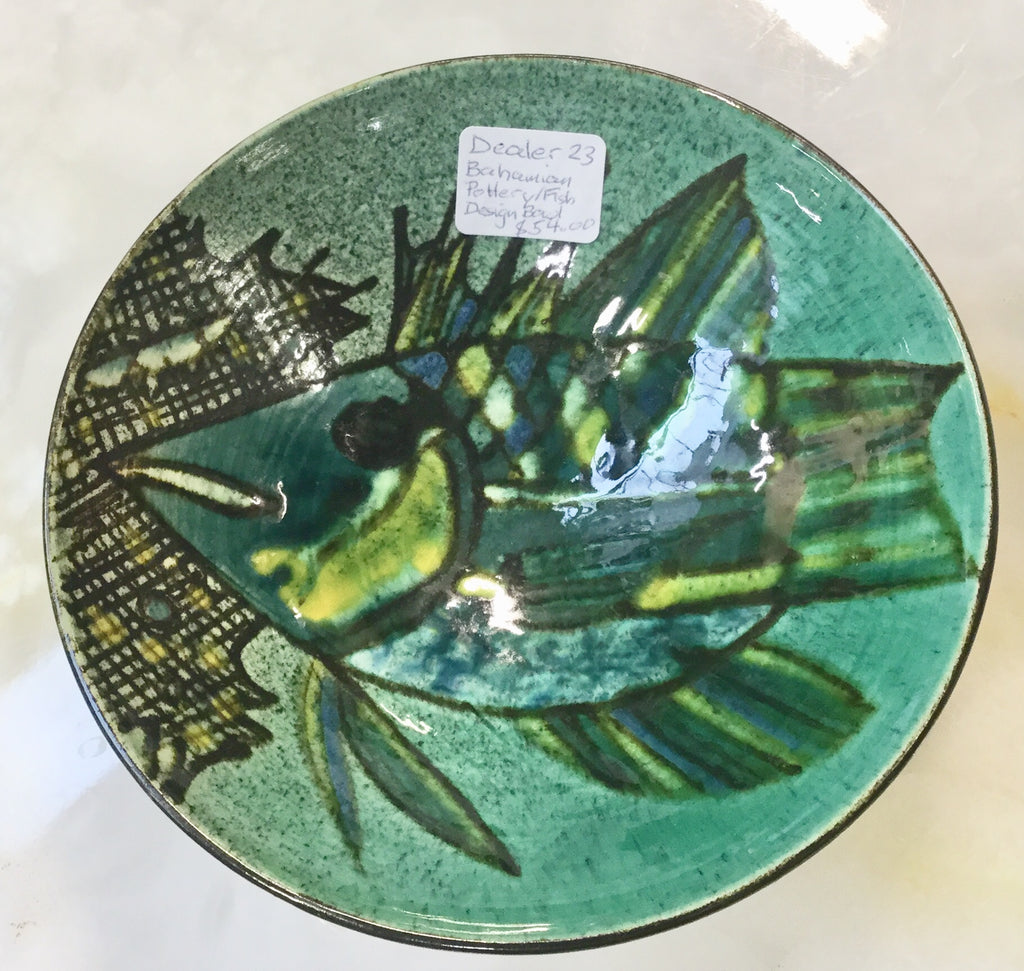 Art Pottery Fish Bowl