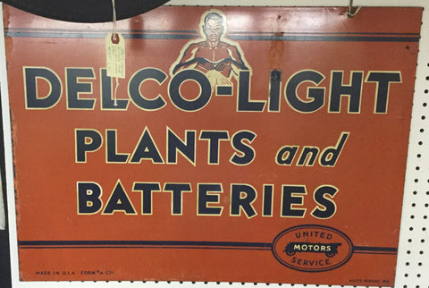Delco Light Metal Sign