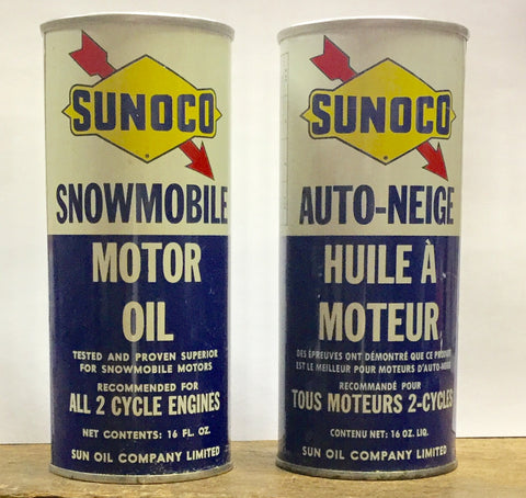 1959 Sunoco Snowmobile Oil Can