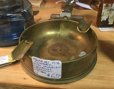 Trench Art Ashtray, Canadian
