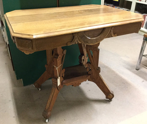 Victorian Eastlake Walnut Table