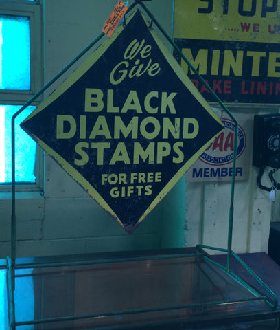 Black Diamond Stamps Advertising Stand