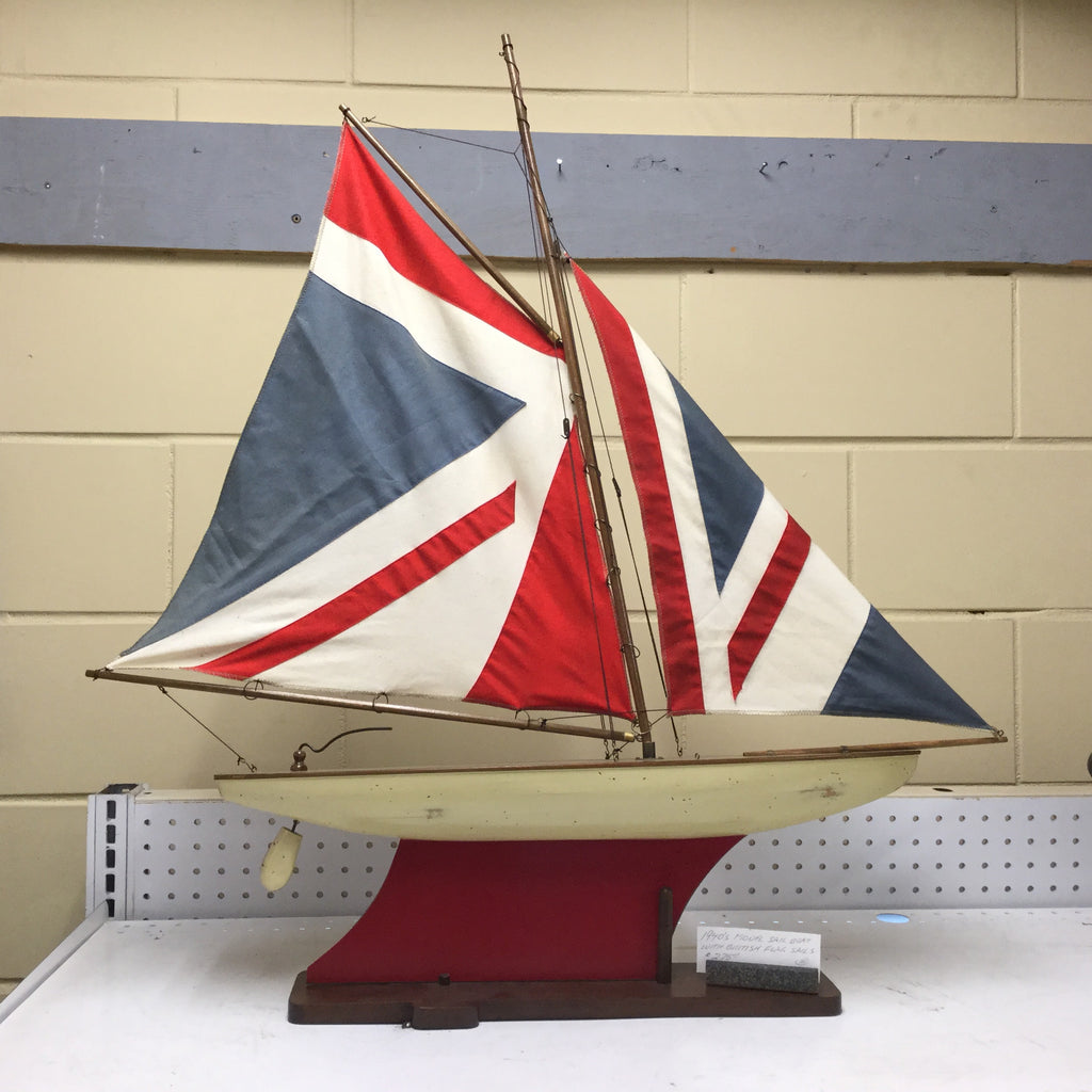 Sailboat, 1940's, Model with Union Jack Sails
