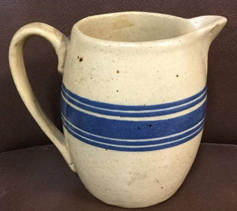 Yellow Ware Blue Banded Pitcher
