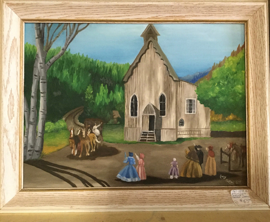 "Painting ""Pioneer Church Wedding"""