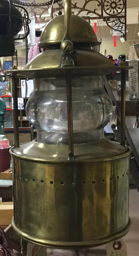 Brass Sailboat Candle Lantern