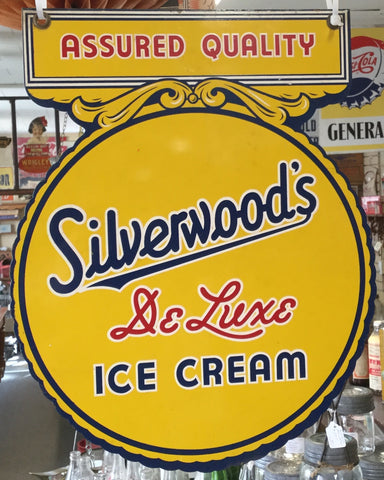 Silver woods Ice Cream Porcelain Sign