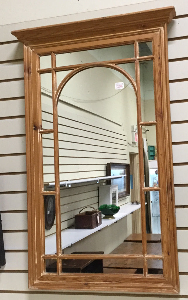 Antique Pine Mirror Arch Center