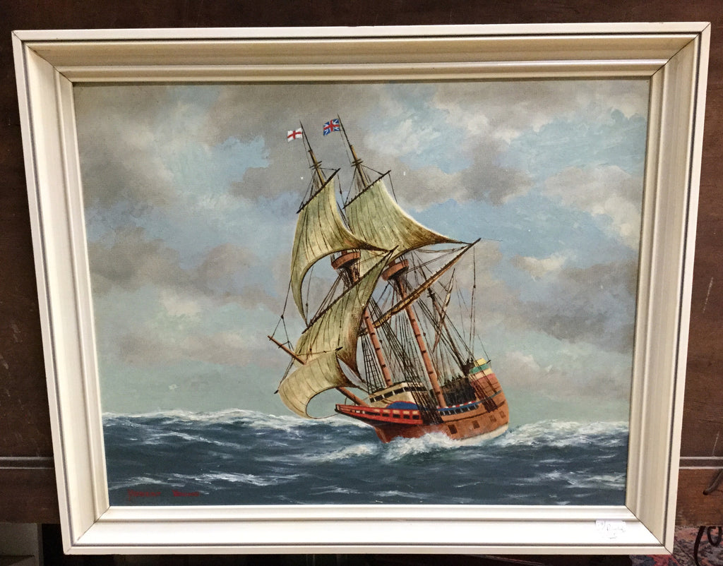 Double Masted Ship Oil Painting