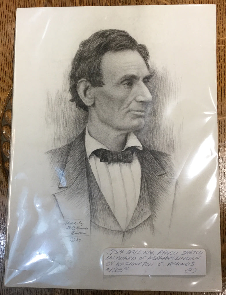 Abraham Lincoln Original Pencil Sketch