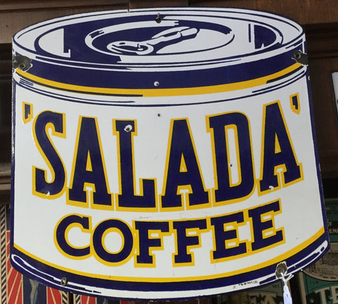 Salada Tea Porcelain Sign P & M