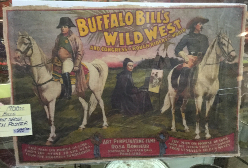 Buffalo Bill Wild West Oil Cloth Poster