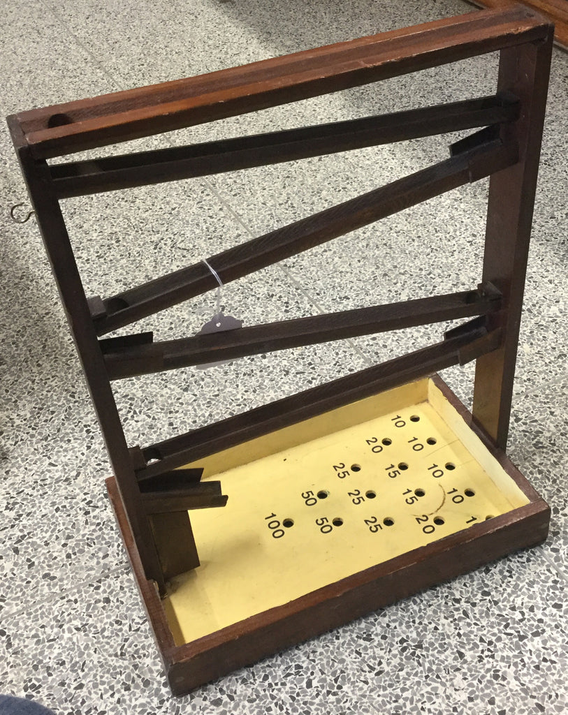 Vintage Wooden Marble Rolling Game